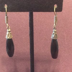 Black drop earrings.  2/$10 Sale